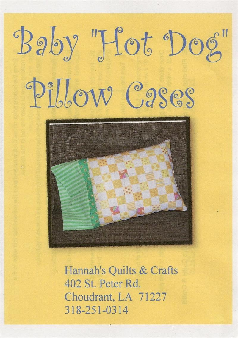 Baby Hot Dog Pillow Case Pattern With Pillow